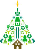 Абстрактная рождественская елка Стоковое Изображение RF