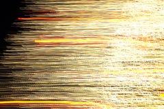 Абстрактная рождественская елка в золотом светлом движении 1 Стоковое Изображение RF