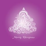 Абстрактная рождественская елка иллюстрация вектора