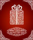 Абстрактная рождественская открытка Стоковое фото RF