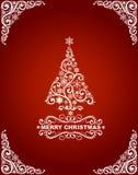 Абстрактная рождественская открытка Стоковая Фотография RF