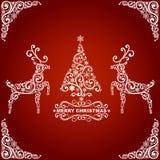 Абстрактная рождественская открытка Стоковые Фотографии RF
