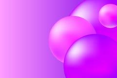 Абстрактная розовая и фиолетовая предпосылка с реалистическими сферами Ультрамодная розовая абстрактная иллюстрация Стоковые Фото