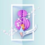Абстрактная розовая предпосылка с текстом Стоковые Фото