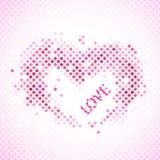 Абстрактная романтичная предпосылка с сердцем и влюбленностью. Стоковое Изображение RF
