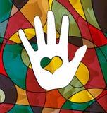 Абстрактная рука белизны изображения Стоковое Изображение