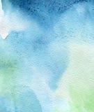 абстрактная рука покрасила акварель Стоковые Изображения
