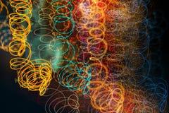 Абстрактная светлая картина с движением камеры стоковые изображения rf