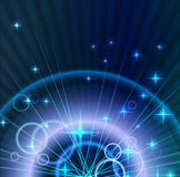 Абстрактная светлая предпосылка с кругами Стоковое фото RF