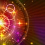 Абстрактная светлооранжевая и лиловая предпосылка Стоковые Изображения RF