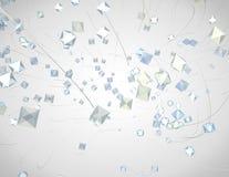 Абстрактная светлая элегантная предпосылка технологии Стоковая Фотография