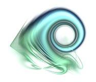 абстрактная свирль голубого зеленого цвета Стоковая Фотография RF