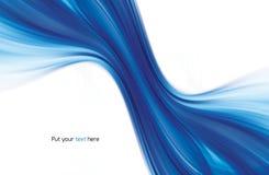Абстрактная свирль голубое background2 Стоковая Фотография RF