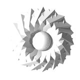 Абстрактная священная геометрия 3D иллюстрация штока