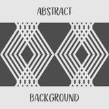 Абстрактная серая геометрическая monochrome предпосылка дизайна Стоковые Фотографии RF