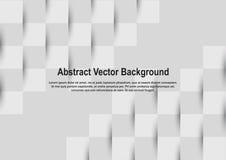 Абстрактная серая квадратная геометрическая предпосылка векторной графики картины Стоковое Изображение RF