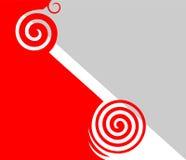 абстрактная серая красная белизна Стоковые Изображения
