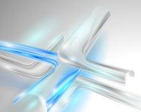 Абстрактная серая предпосылка с голубыми элементами Стоковые Изображения RF