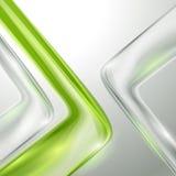 Абстрактная серая предпосылка с зеленым цветом Стоковая Фотография