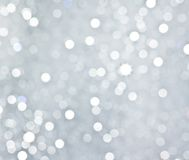 Абстрактная серебряная круговая предпосылка bokeh Стоковая Фотография