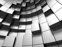 Абстрактная серебряная предпосылка кубов металла Стоковая Фотография RF