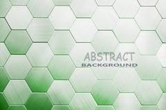 Абстрактная серебряная предпосылка металла Геометрические шестиугольники стоковые изображения