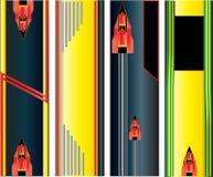 абстрактная сеть вертикали знамен Иллюстрация штока