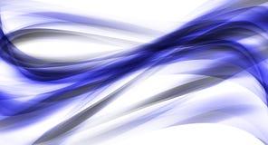 абстрактная синь изгибает темную иллюстрацию Стоковая Фотография