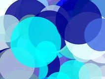 Абстрактная синь объезжает предпосылку иллюстрации Стоковые Фото