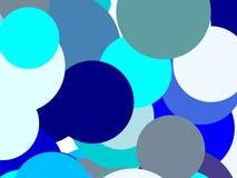 Абстрактная синь объезжает предпосылку иллюстрации Стоковые Изображения