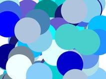 Абстрактная синь объезжает предпосылку иллюстрации Стоковые Изображения RF
