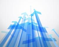 абстрактная синь предпосылки стрелок иллюстрация штока
