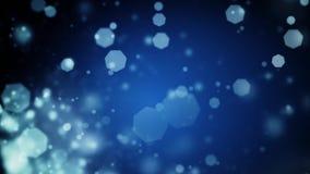 Абстрактная синяя предпосылка рождества с светами bokeh defocused иллюстрация штока