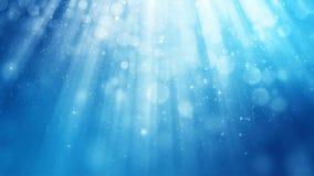 Абстрактная сияющая голубая оживленная предпосылка Безшовная петля сток-видео