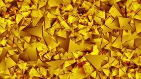 Абстрактная сияющая золотая низкая поли видео- анимация бесплатная иллюстрация