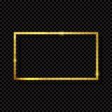 Абстрактная сияющая золотая роскошь рамки на прозрачной предпосылке также вектор иллюстрации притяжки corel Стоковые Изображения