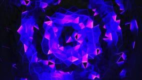 Абстрактная сияющая триангулярная геометрическая предпосылка петли сток-видео