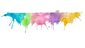 Абстрактная смешанная предпосылка картины акварели цветов Стоковые Изображения RF