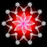 абстрактная снежинка Стоковые Фотографии RF