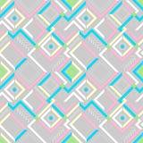 Абстрактная современная геометрическая безшовная картина Стоковые Изображения RF
