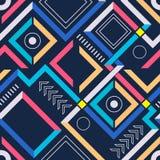 Абстрактная современная геометрическая безшовная картина Стоковые Фотографии RF