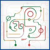 Абстрактная современная линия искусство иллюстрация вектора