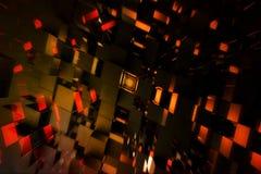 Абстрактная современная пестротканая предпосылка кубов цифров стоковые фото