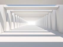 Абстрактная современная предпосылка архитектуры, пустое белое открытое пространство Стоковые Изображения