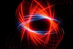 абстрактная спираль голубого красного цвета Стоковые Фотографии RF