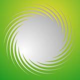Абстрактная спиральная форма над фоном яркого зеленого цвета иллюстрация вектора