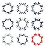 Абстрактная спиральная форма Элемент свирли с радиальными линиями Аннотация Стоковая Фотография RF