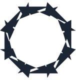 Абстрактная спиральная форма Элемент свирли с радиальными линиями Аннотация Стоковое Изображение