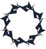 Абстрактная спиральная форма Элемент свирли с радиальными линиями Аннотация Стоковые Изображения RF