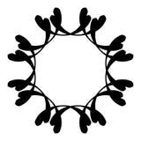 Абстрактная спиральная форма Элемент свирли с радиальными линиями Аннотация Стоковое Фото